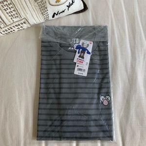 KAWS X Uniqlo UT Striped Tee ( T-Shirt ) BFF